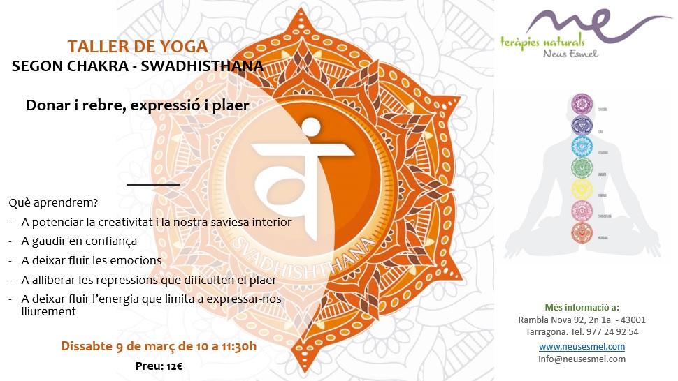 Taller Yoga segon chakra